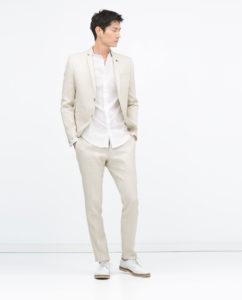 trajes de hombre en lino
