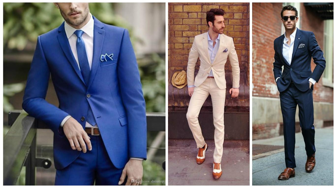 7362df3dc869b trajes para hombre slim fit a la moda 2018 tendencias UNO - Trajes ...